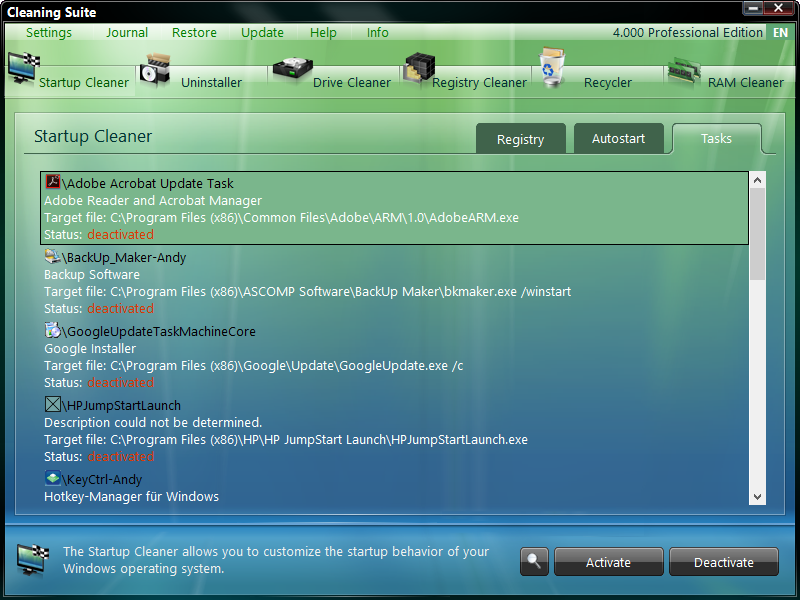 Cleaning Suite Professional 4.001 + Crack
